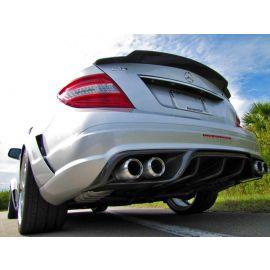 RENNtech Carbon Fiber | Rear Diffuser | w/ Integrated Exhaust Tips | 204 - C Class
