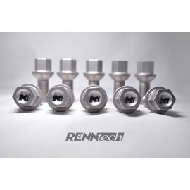 RENNtech Titanium Lug Bolts   Matte Finish   1-pc   with Security Upgrade